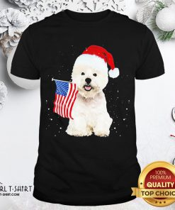 Search Poodle Santa American Flag Happy Christmas Shirt - Design By Girltshirt.com
