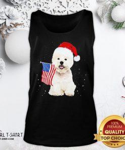 Search Poodle Santa American Flag Happy Christmas Tank Top - Design By Girltshirt.com