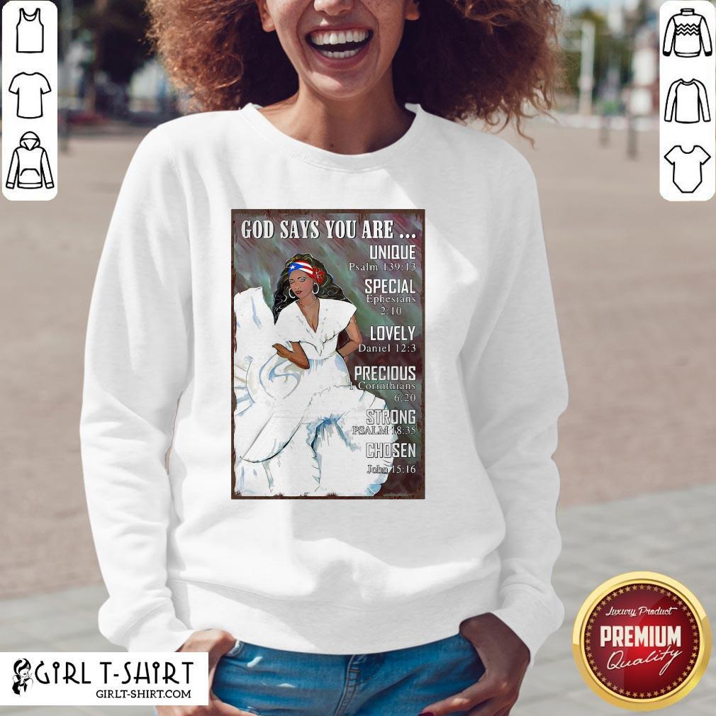 Best Puerto Rico Girl Bomba Dance Pr Girl God Says Vertical Poster V-neck- Design By Girltshirt.com