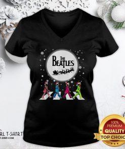 Best The Beatles Christmas V-neck - Design By Girltshirt.com