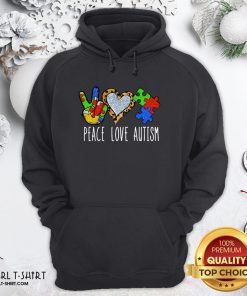 Better Peace Love Autism Hoodie- Design By Girltshirt.com