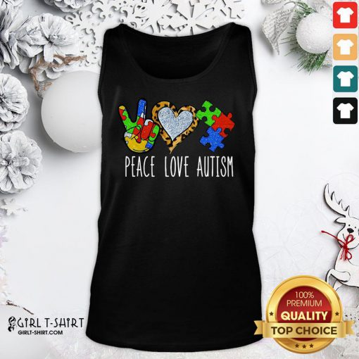 Better Peace Love Autism Tank Top - Design By Girltshirt.com