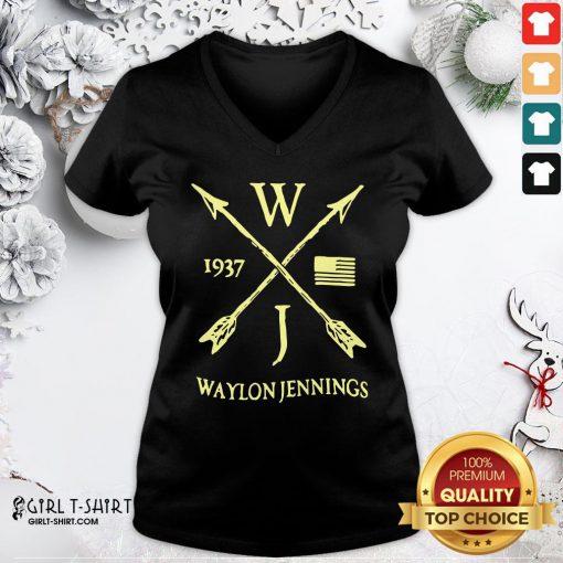 Better WJ 1937 Waylon Jennings Littlefield V-neck- Design By Girltshirt.com