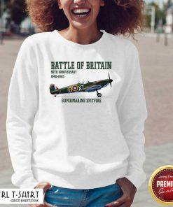 Battle Of Britain 80th Anniversary 1940 2020 Supermarine Spitfire V-neck- Design By Girltshirt.com