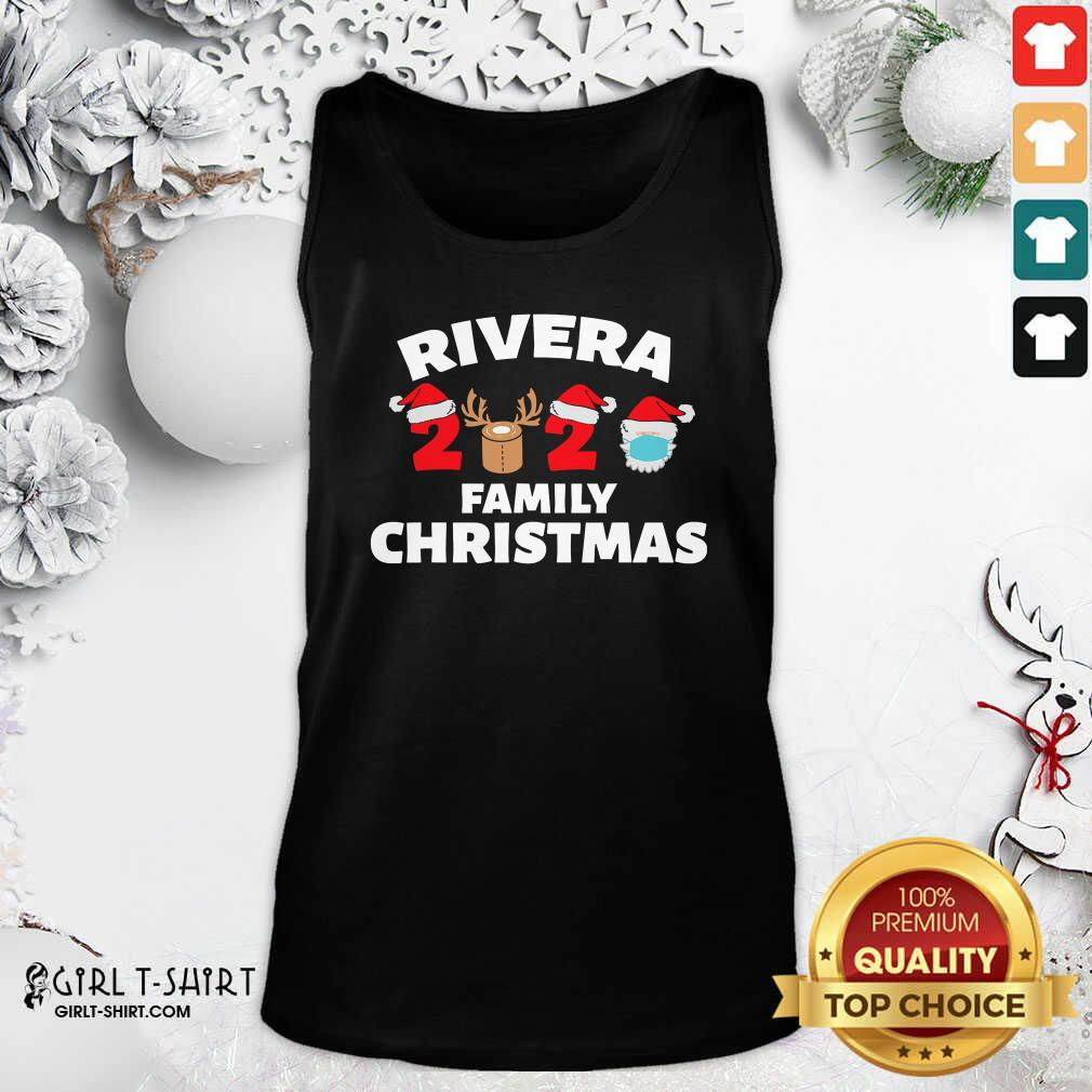 Cool Rivera Family Christmas 2020 Santa Clause Wear Mask Tank Top- Design By Girltshirt.com