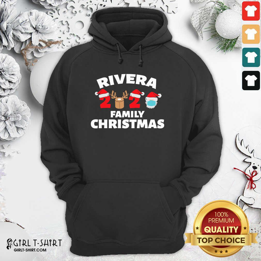 Cool Rivera Family Christmas 2020 Santa Clause Wear Mask Hoodie- Design By Girltshirt.com