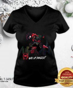 Spider Man Miles Morales Was Up Danger V-neck - Design By Girltshirt.com