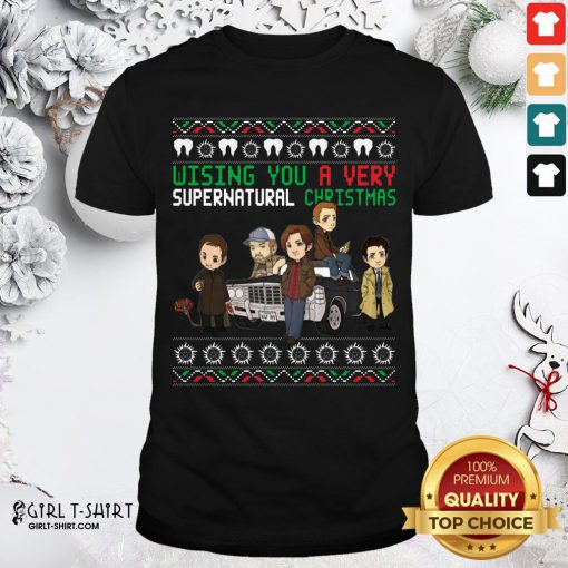 Cool Wishing You A Very Supernatural Christmas Shirt - Design By Girltshirt.com