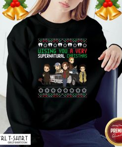 Cool Wishing You A Very Supernatural Christmas Tank Top - Design By Girltshirt.com