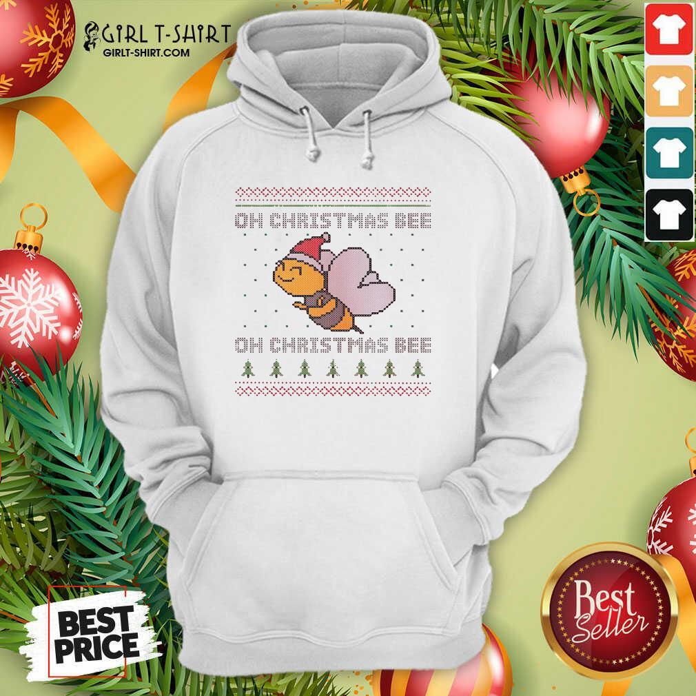 Oh Christmas Bee Ugly Christmas Hoodie- Design By Girltshirt.com