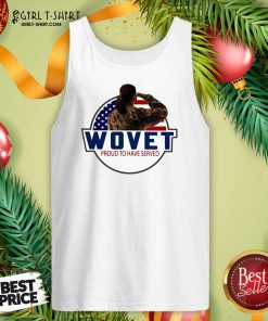 Wovet Proud To Have Served American Flag Tank Top - Design By Girltshirt.com