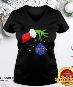 Different The Grinch Christmas Ornament Buffalo Bills V-neck - Design By Girltshirt.com