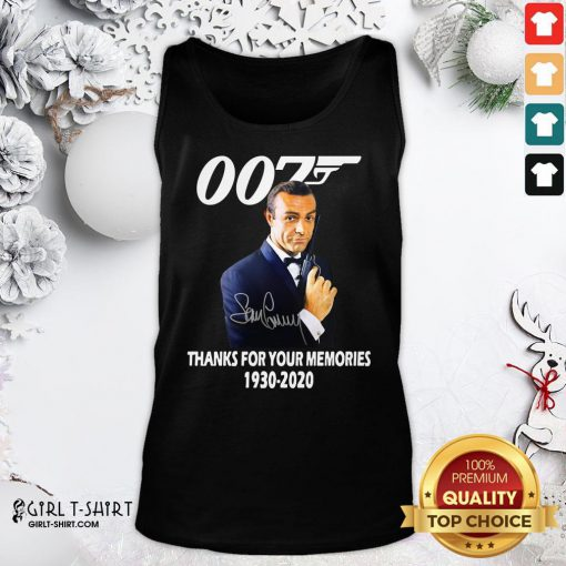 Expensive Sean Connery 007 Thanks For The Memories 1930 2020 Signature Tank Top - Design By Girltshirt.com