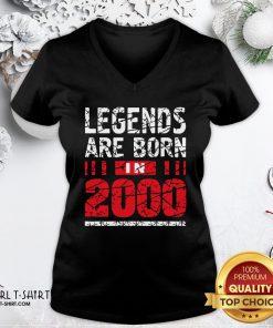 Frist Legends Are Born In 2020 V-neck- Design By Girltshirt.com