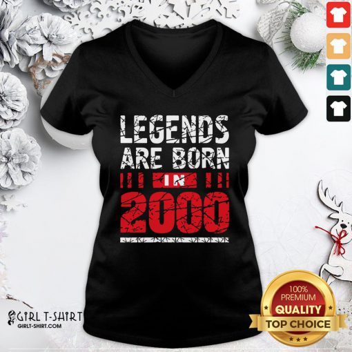 Frist Legends Are Born In 2020 V-neck- Design By Girltshirt.com