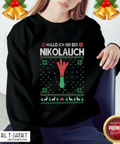 Fun Hello I Am The Nikol Even Ugly Christmas Sweatshirt - Design By Girltshirt.com