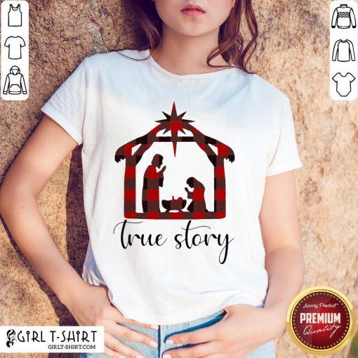 Fun Plaid Jesus True Story Christmas 2020 Shirt - Design By Girltshirt.com