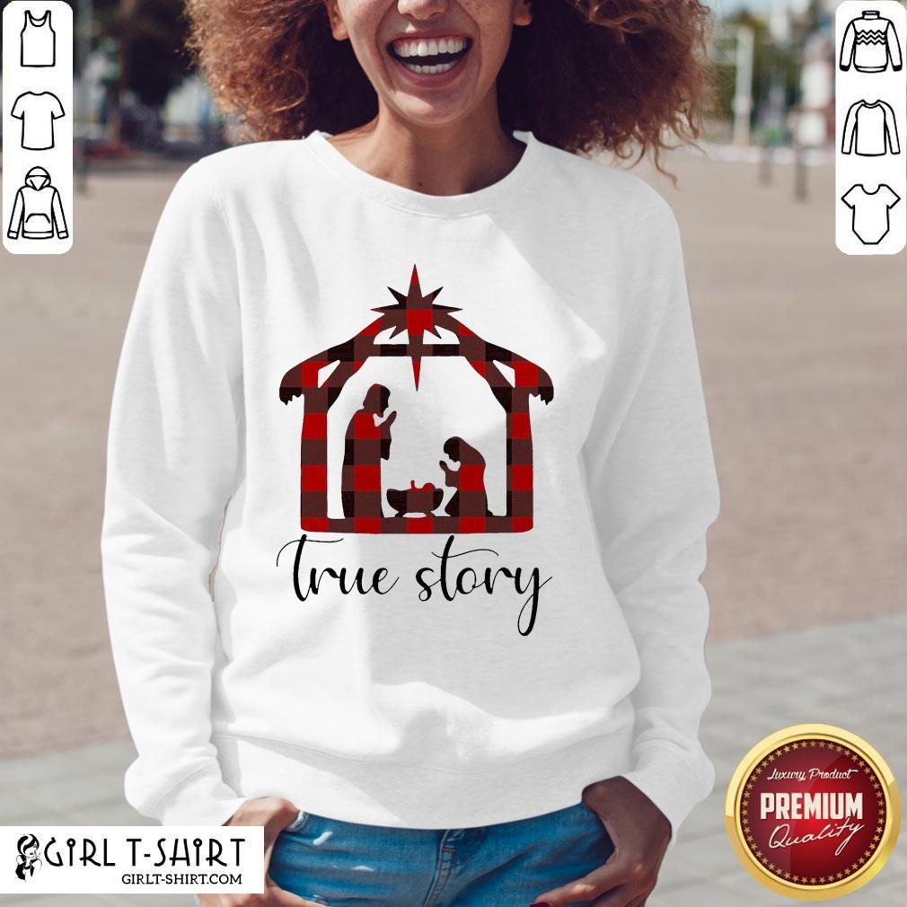Fun Plaid Jesus True Story Christmas 2020 V-neck - Design By Girltshirt.com