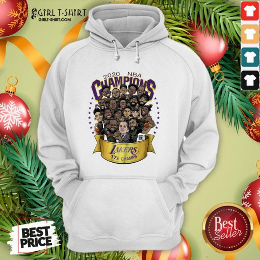 Funny 2020 NBA Champions Los Angeles Lakers 17 Champs Cartoon Hoodie - Design By Girltshirt.com