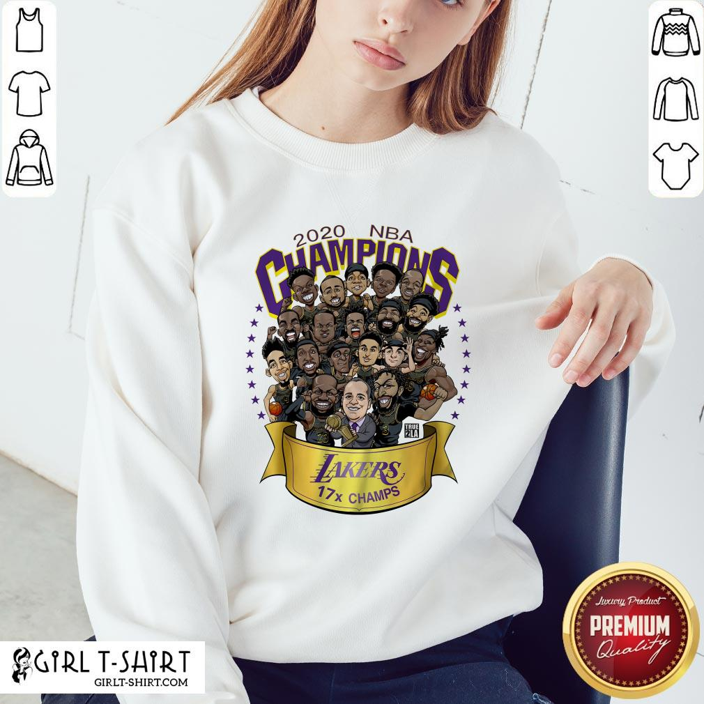 Funny 2020 NBA Champions Los Angeles Lakers 17 Champs Cartoon Sweatshirt - Design By Girltshirt.com