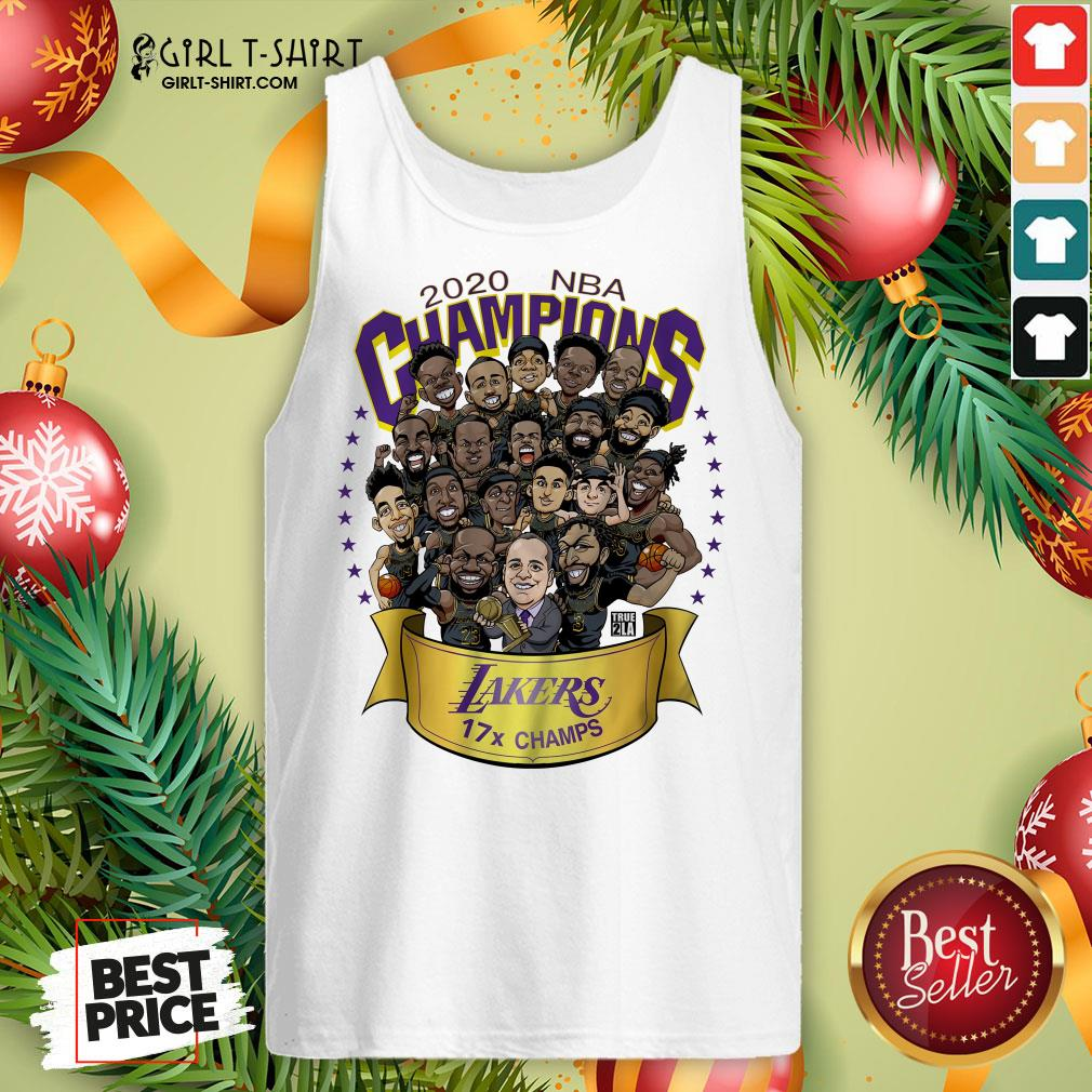Funny 2020 NBA Champions Los Angeles Lakers 17 Champs Cartoon Tank Top - Design By Girltshirt.com