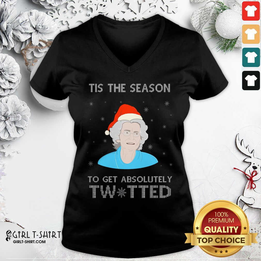 Funny Doris Gavin Tis The Season To Get Absolutely Twitted Christmas Tank Top - Design By Girltshirt.com