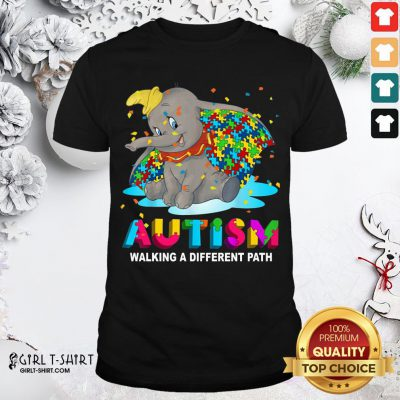 Gift Elephant Autism Walking A Different Path Shirt- Design By Girltshirt.com
