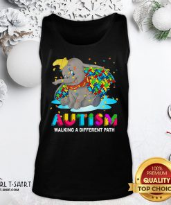 Gift Elephant Autism Walking A Different Path Tank Top - Design By Girltshirt.com