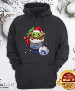 Good Los Angeles Dodgers Christmas Baby Yoda Star Wars Funny Happy MLB Hoodie - Design By Girltshirt.com