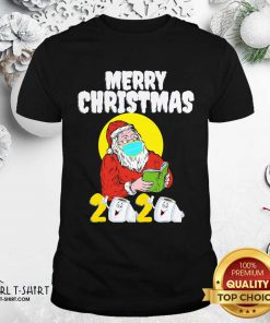 Merry Christmas 2020 Santa With Face Mask And Toilet Paper Shirt- Design By Girltshirt.com
