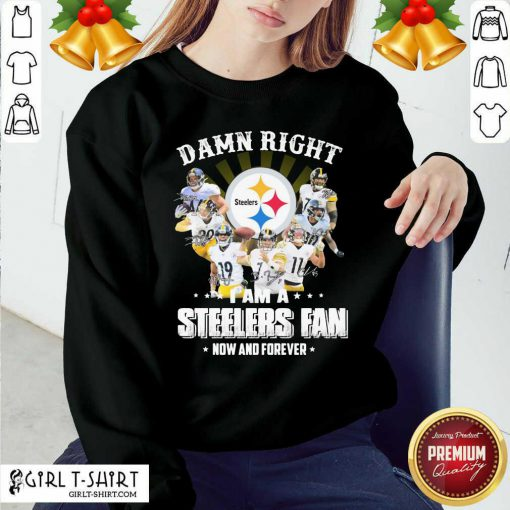 So Damn Right I Am A Pittsburgh Steelers Fan Now And Forever Signature Sweatshirt - Design By Girltshirt.com