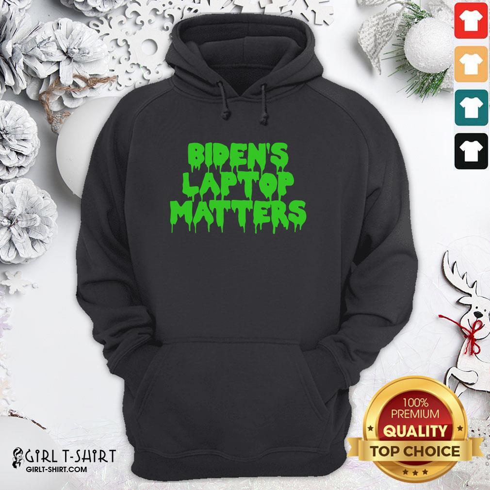 Gray Biden's Laptop Matters Political Swamp Green Hoodie - Design By Girltshirt.com