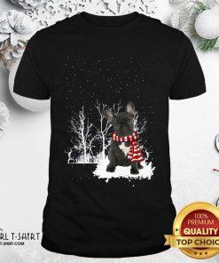French Bulldog Snow Scarf Christmas Shirt - Design By Girltshirt.com