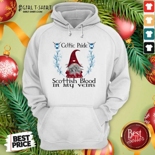 Gnome Celtic Pride Scottish Blood In My Veins Christmas Hoodie - Design By Girltshirt.com