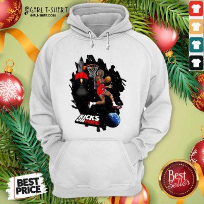 Kobe Bryant Kicks On Fire Hoodie - Design By Girltshirt.com