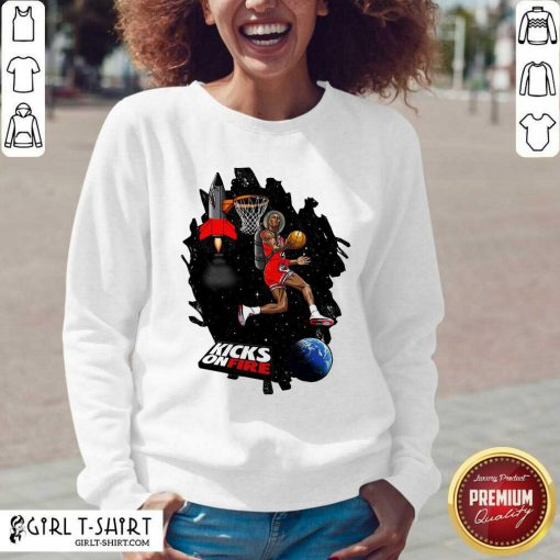 Kobe Bryant Kicks On Fire V-neck - Design By Girltshirt.com