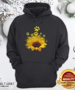 Happy Dog Sunflower Hoodie - Design By Girltshirt.com