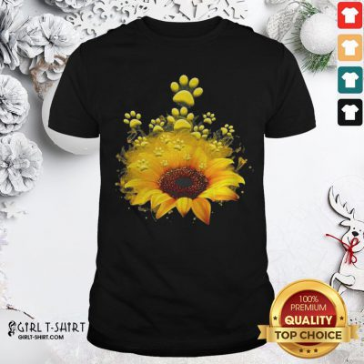 Happy Dog Sunflower Shirt - Design By Girltshirt.com