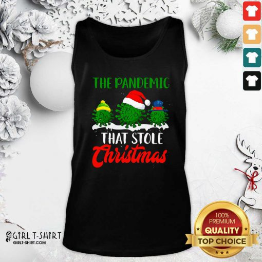 The Pandemic That Stole Christmas 2020 Virus Corona Tank Top- Design By Girltshirt.com