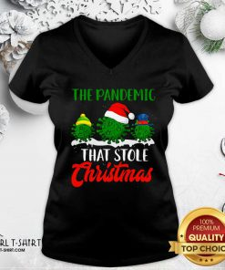 The Pandemic That Stole Christmas 2020 Virus Corona V-neck- Design By Girltshirt.com
