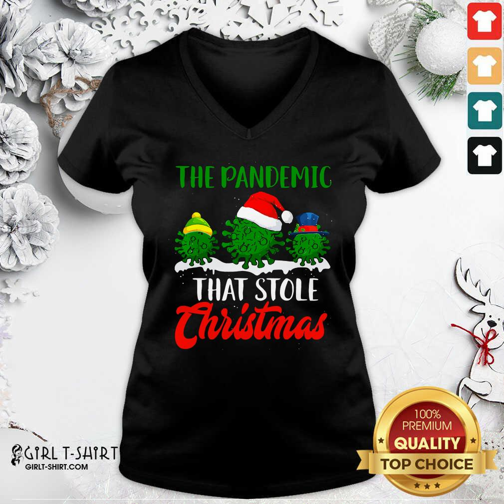 Happy The Pandemic That Stole Christmas 2020 Virus Corona V-neck- Design By Girltshirt.com