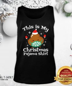 This Is My Christmas Pajama Poop Face Mask Matching Xmas Tank Top- Design By Girltshirt.com