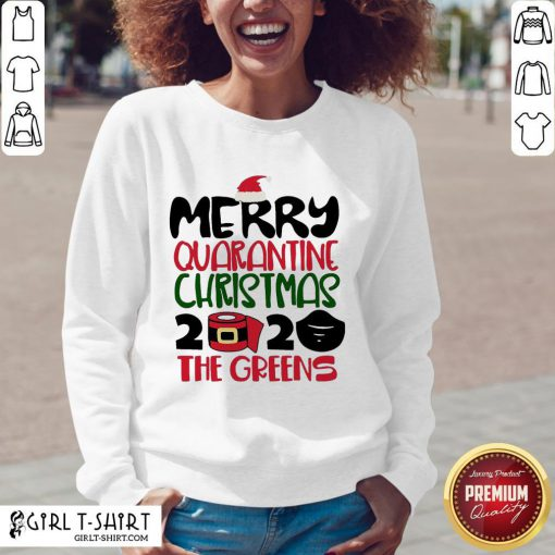 Happy Toilet Paper Merry Quarantine Christmas 2020 The Greens V-neck- Design By Girltshirt.com