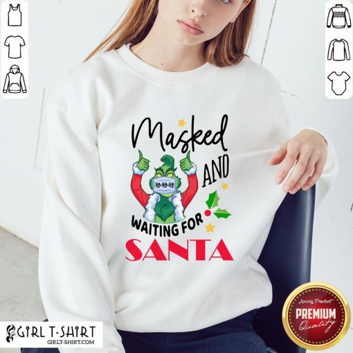 Hard Masked And Waiting For Santa Christmas Sweatshirt - Design By Girltshirt.com