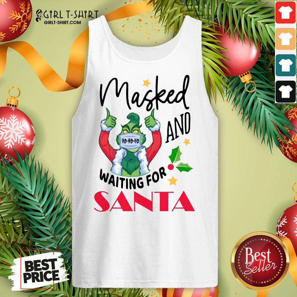 Hard Masked And Waiting For Santa Christmas Tank Top- Design By Girltshirt.com