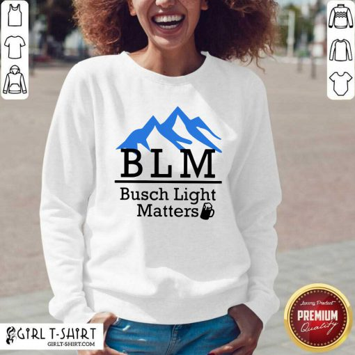 BLM Busch Light Matters V-neck- Design By Girltshirt.com