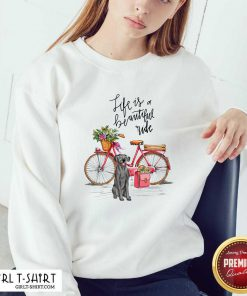 Hot Great Dane Bike Like A Beautiful Ride Sweatshirt - Design By Girltshirt.com