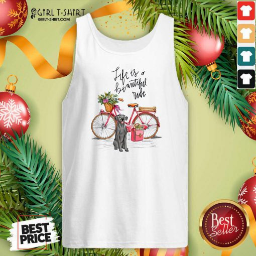 Great Dane Bike Like A Beautiful Ride Tank Top - Design By Girltshirt.com