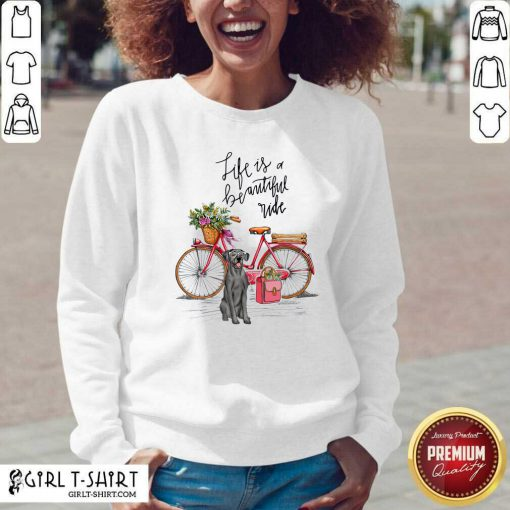 Great Dane Bike Like A Beautiful Ride V-neck - Design By Girltshirt.com