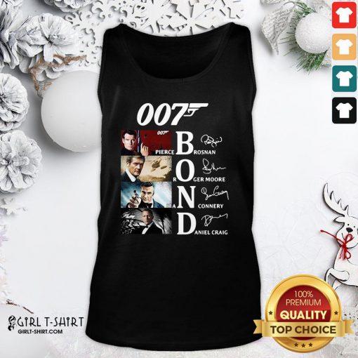 Hot James Bond 007 Pierce Brosnan Roger Moore Sean Connery Daniel Craig Signatures Tank Top- Design By Girltshirt.com